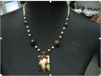 Necklaces for clothes necklines