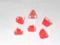 Glass triangle solid red QTR LB wholesale