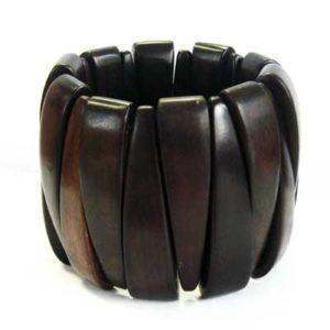 Black ebony stretch bracelet