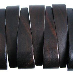 Black ebony bracelet component