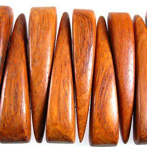 Wooden bracelet component