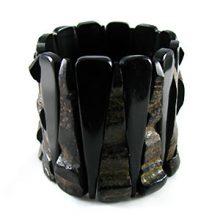 Black horn bracelet combo wholesale beads