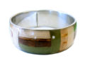 Wholesale bangles jewelry with banana bark inlay