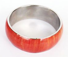 Wholesale coral jewelry bangles with corn inlay
