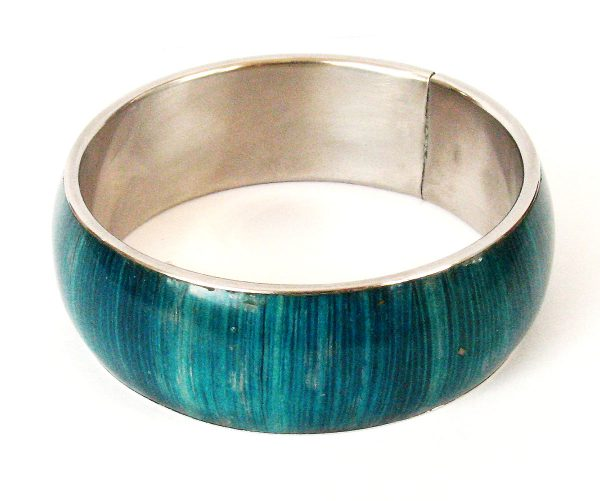 Wholesale blue jewelry bangles with corn inlay