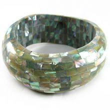 Wholesale abalone shell inlay jewelry bangle