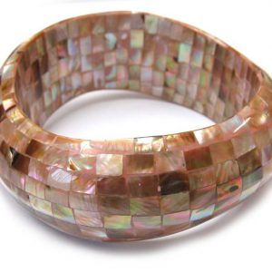 wholesale brownlip block wavy bangle