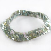 wholesale abalone blocking wavy bangle