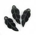 Tab shell leaf 13x30mm long wholesale pendant