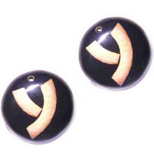 32mm round earring 2mm hole wholesale