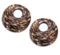 coco back earring striped kalar 30mm wholesale pendants