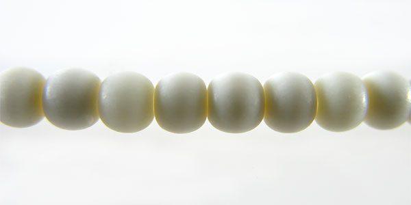 White bone round 4mm wholesale beads