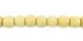 Tea-dyed bone round 6mm wholesale beads