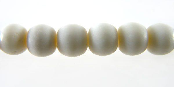 White bone round 8mm wholesale beads