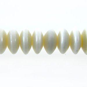 White bone saucer 4mm wholesale beads