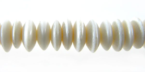 White bone saucer 6mm wholesale beads