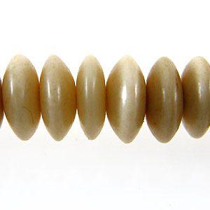 Tea-dyed bone saucer 6mm wholesale beads