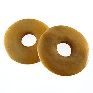 Tea-dyed bone donut 30mm wholesale