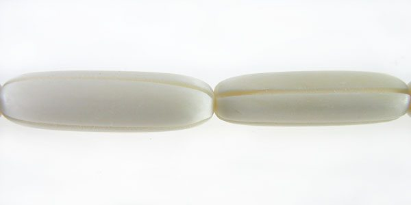 White bone carved oval wholesale beads