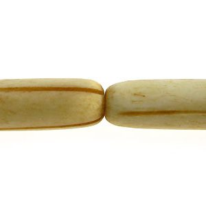 Tea-dyed bone carved oval 27x8mm wholesale beads