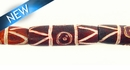 Dyed bone grooved; tube brown wholesale beads