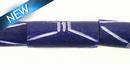 Dyed bone grooved; tube Purple wholesale beads