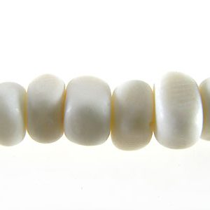 Whie bone nuggets 5mm wholesale beads