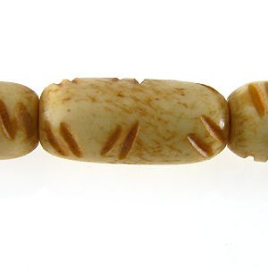 Tea-dyed bone carved oval 17x8mm wholeslae beads