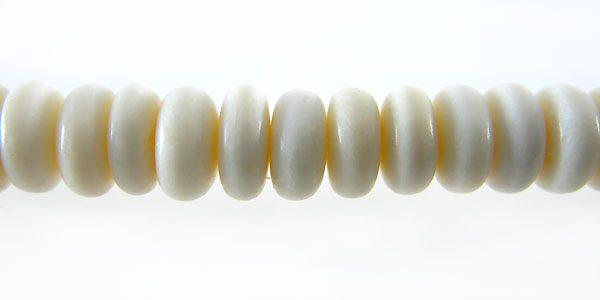 White bone pukalet 7mm wholesale beads