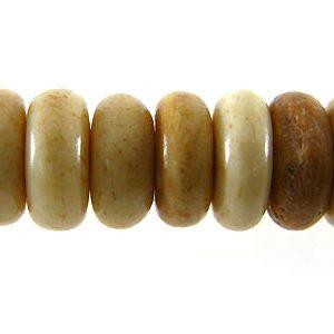 Tea-dyed bone pukalet 7mm wholesale beads