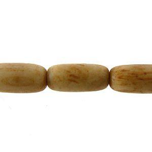 Tea-dyed bone rice beads 9x4mm wholesale beads