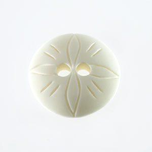 wholesale White Bone Button Beads 26mm