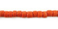 Coco round 4-5mm orange wholesale beads