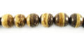 Tiger Round Coco Beads 8mm wholesale beads