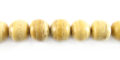 White coco round 8mm wholesale beads