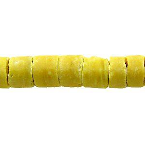 Coco heishi 4-5mm yellow wholesale beads