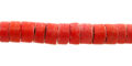 Coco heishi 6-7mm orange wholesale beads