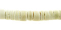 Coco heishi 6-7mm bleached white wholesale beads