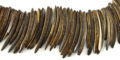 Natural brown coco stick wholesale beads