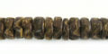 Coco flower 8mm nat. brown wholesale beads