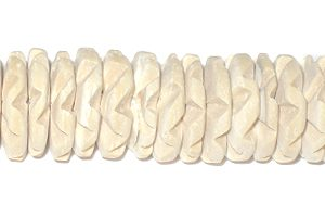 Coco flower 15mm bleached white wholesale beads
