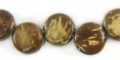 Coco side drill natural brown wholesale beads