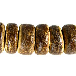 Brown coco 8x3mm pukalet wholesale beads