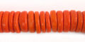 Coco wheels 10mm orange wholesale beads
