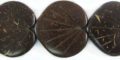 Coco shell 2-sided leaf carvin wholesale beads