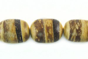 Tiger coco oval 8mm wholesale beads