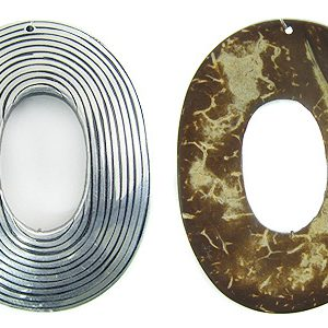 Coco oval wire inlay wholesale pendants