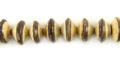 Brown/white coco saucer 10mm wholesale beads