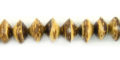 Tiger coco saucer 10mm wholesale beads