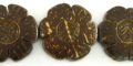 30mm natural brown coco flower wholesale beads